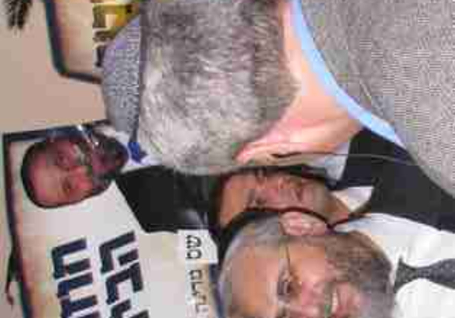 Amsalem with Shas hecklers in pursuit