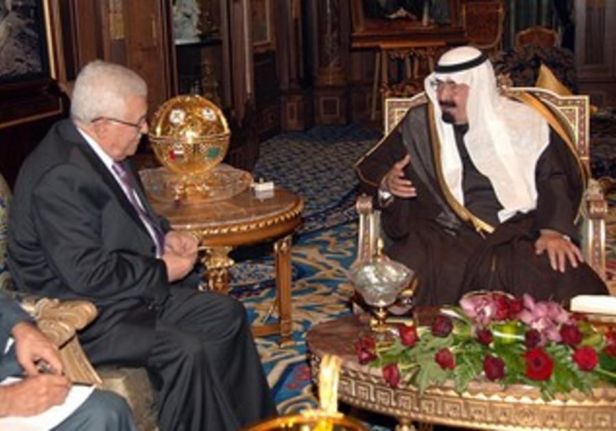 PA President Abbas and Saudi King Abdullah [file]