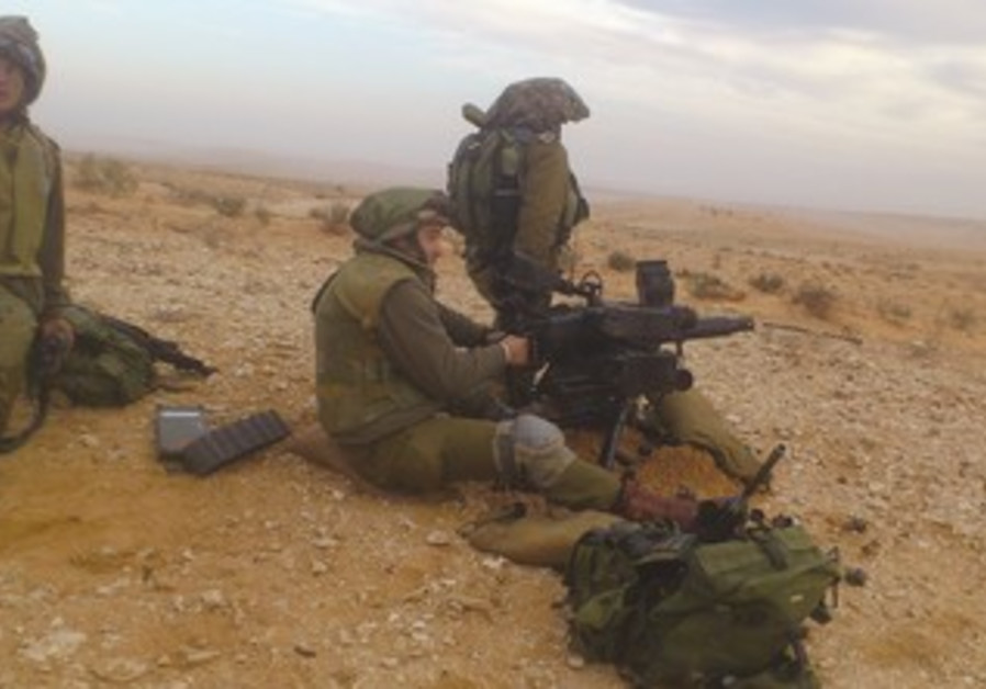 IDF soldiers during a Ground Forces exercise, January 2013.