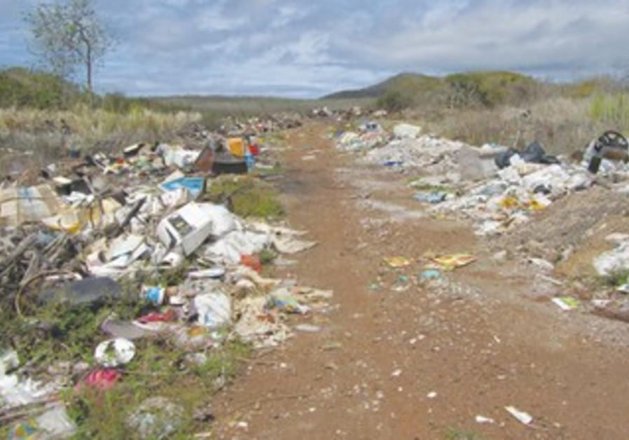 Landfill on San Cristobal Island.