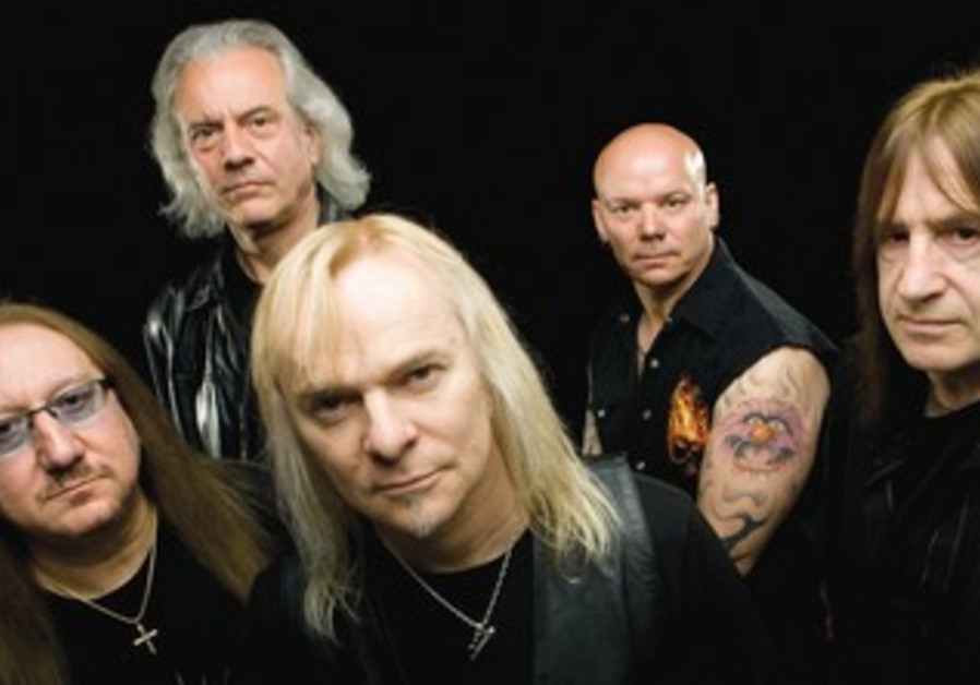 Uriah Heep co-founder Mick Box (far left) seen here with other members of the band.