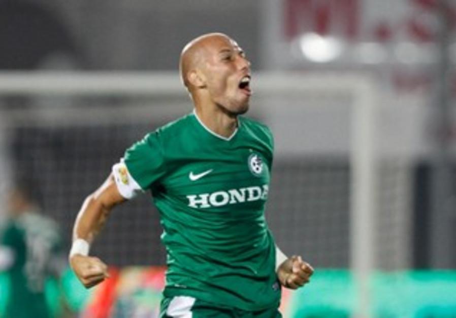 MACCABI HAIFA defender Edin Cocalic had every reason to celebrate.