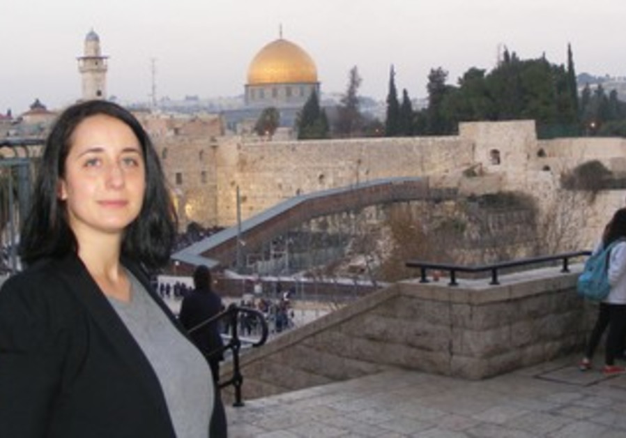 SHARON NIZZA poses for a photo in Jerusalem's Old City