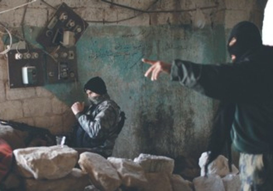 Fighters from Islamist Syrian rebel group Jabhat al-Nusra, December 2012.