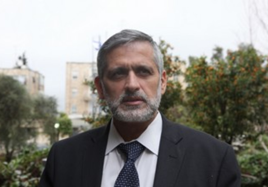 Eli Yishai at the President's residence, January 31, 2013.
