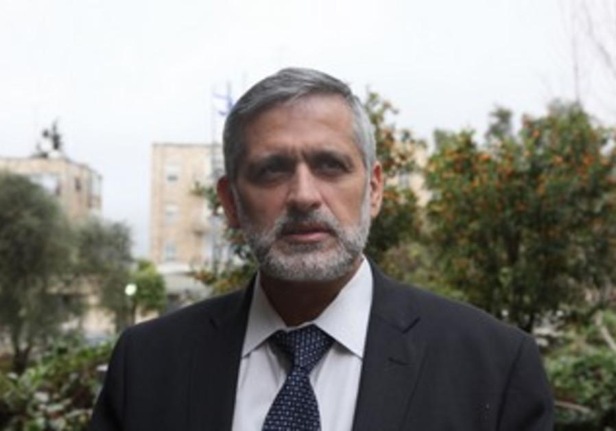 Eli Yishai at the President's residence, January 31, 2013.