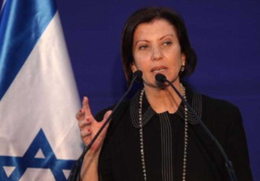 Zehava Gal-On at the President's residence, January 31, 2013.
