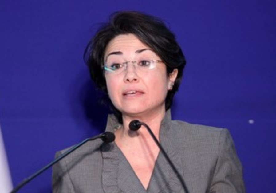 Haneen Zoabi at the President's residence, January 31, 2013.