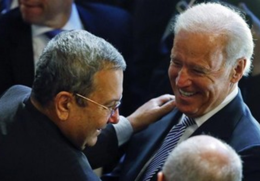 Defense Minister Barak, US VP Joe Biden at Conference on Security Policy in Munich, Feb 1, 2013.