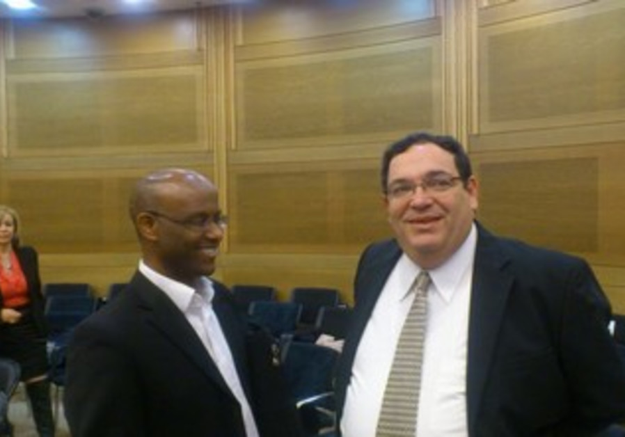 MKs Shai Piron and Shimon Solomon of Yesh Atid