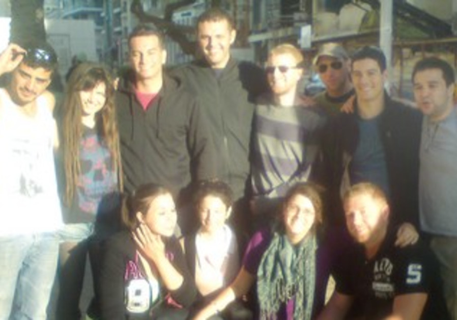The group during their visit to Israel