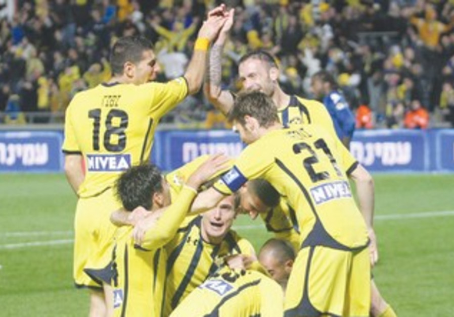 MACCABI TEL AVIV players celebrate