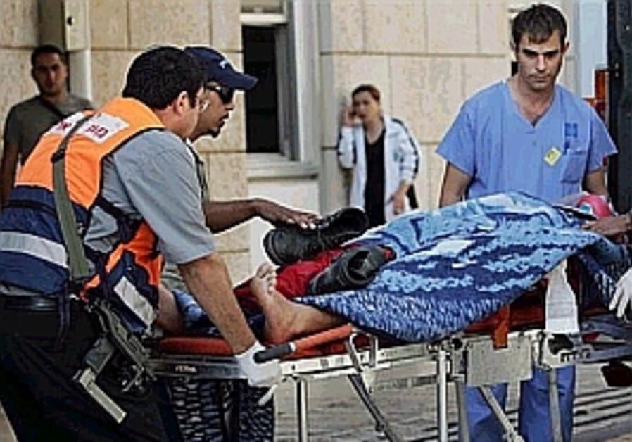 wounded evacuated by ambulance hospital 298