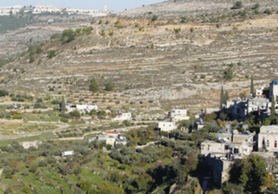 TERRACED AGRICULTURAL fields dot the landscape near Battir, a Palestinian village outside of J'lem