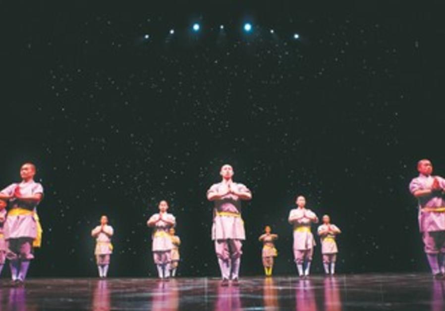 Shaolin monks perform at the Venetian in Macau