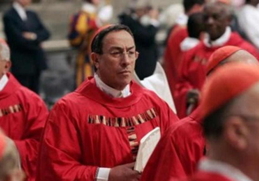 Honduran Cardinal Oscar Andres Rodriguez Maradiaga arrives to attend a Mass at the Vatican, 2005