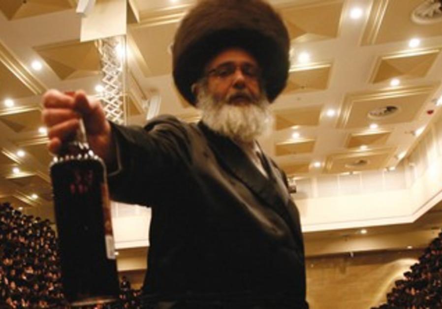 Religious men drink on Purim.