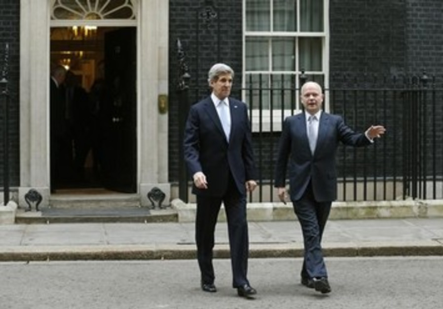 John Kerry meets with British Foreign Minister William Hague, 2/25/2013
