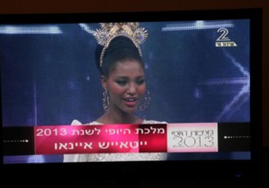 Yityish Aynaw, 21, from Netanya wins Miss Israel 2013.