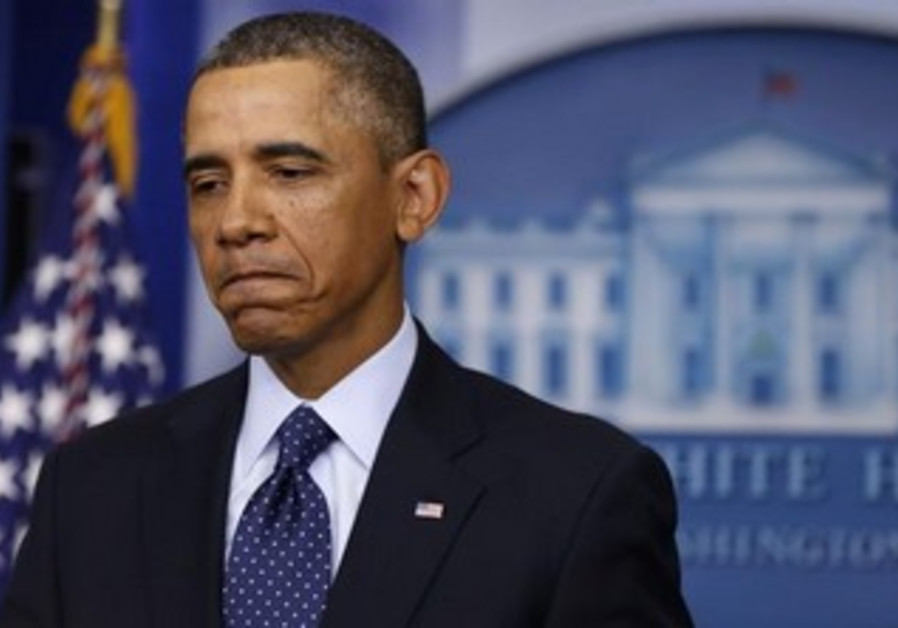 US President Barack Obama after ordering cuts in government spending, March 1, 2013.