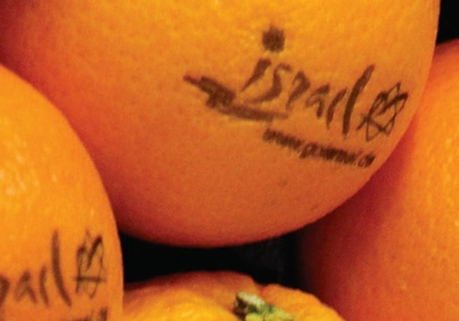 Oranges israéliennes sur un stand à Berlin