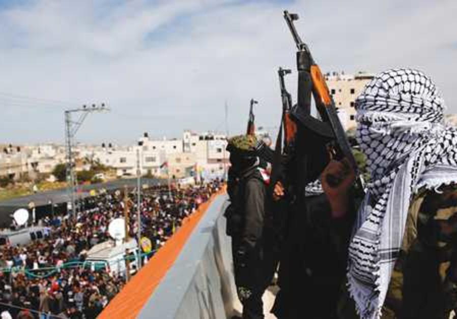 al-Aqsa gunmen at Arafat Jaradat funeral 521