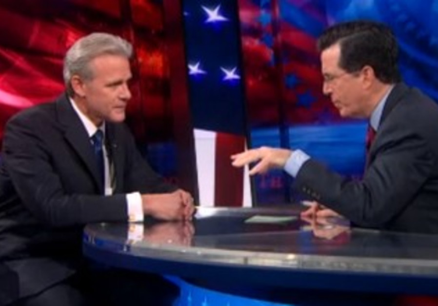Stephen Colbert hosts Michael Oren, March 5, 2013