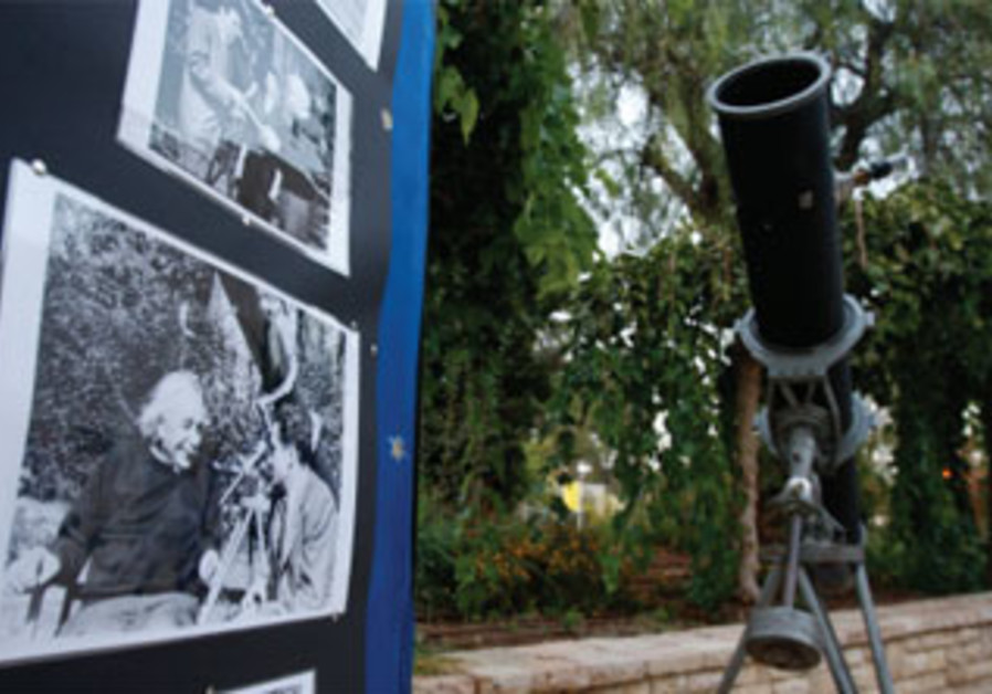 Albert Einstein's telescope is exhibited at The Hebrew University of Jerusalem.