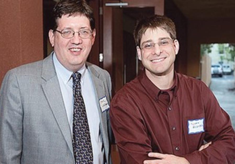 STANFORD UNIVERSITY professors Steve Weitzman (left) and Noah Rosenberg