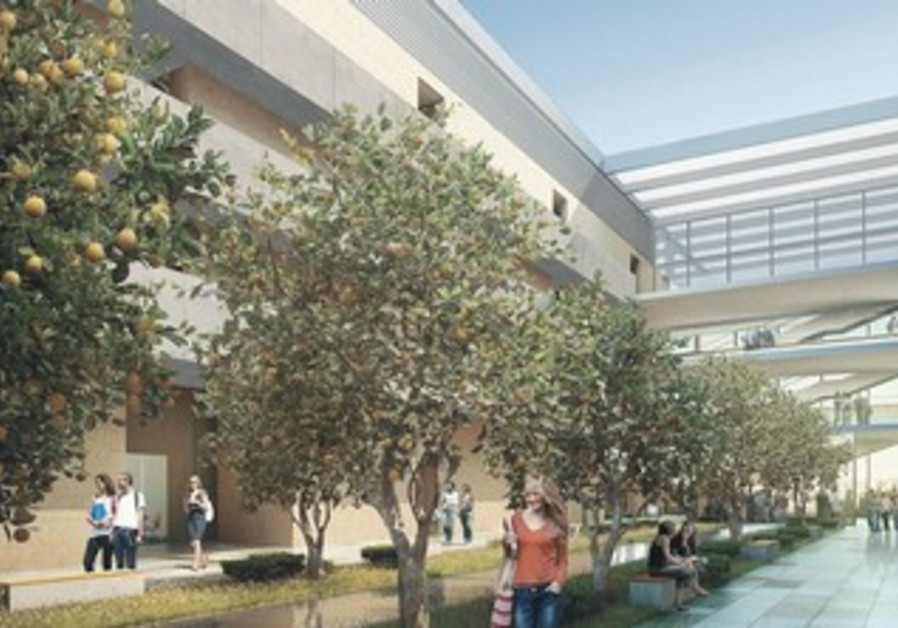 A RENDERING of the inaugurated Edmond and Lily Safra Center for Brain Sciences at the Hebrew U