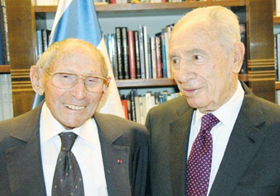 GEORGES LOINGER with President Shimon Peres.