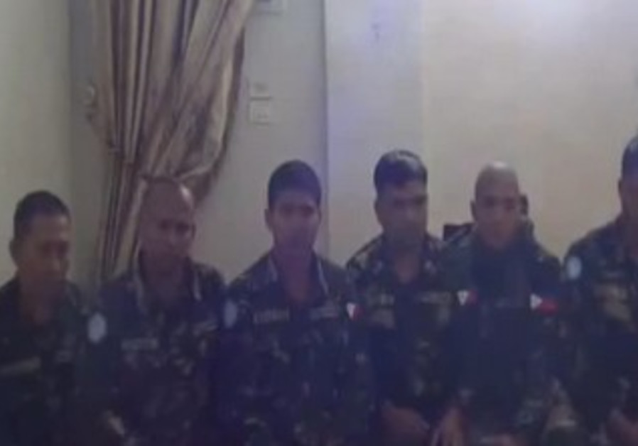 Six of the Filipino UN peacekeepers held by Syria rebels.