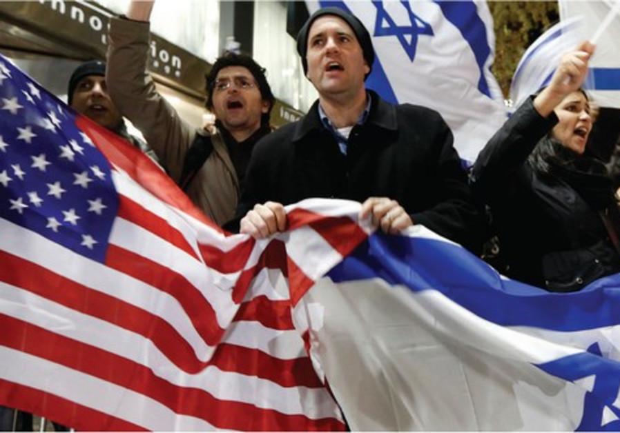 Manifestation pro-israélienne devant le consulat israélien à New York