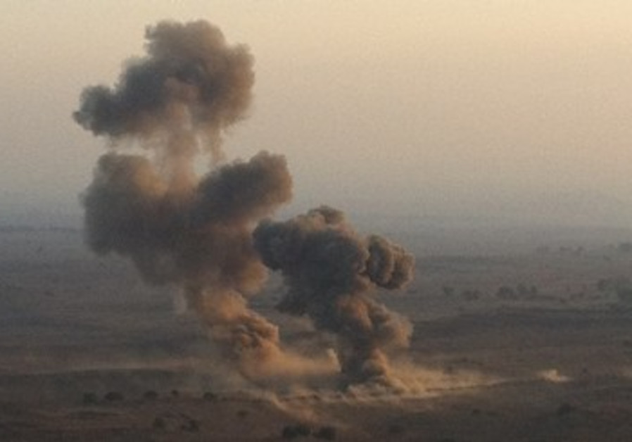 Blast caused by 300 kilograms of explosives sends debris