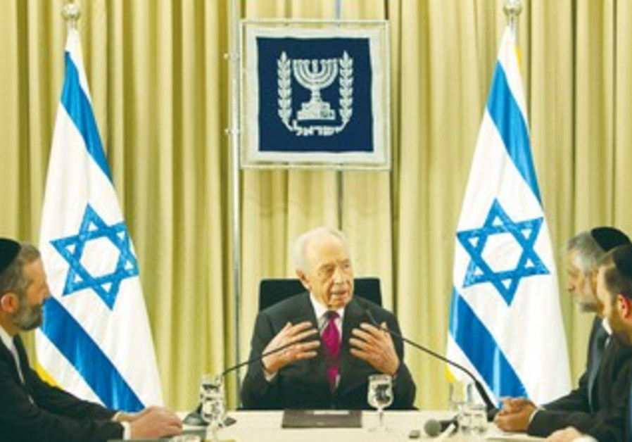 Shas leaders meet with President Shimon Peres.