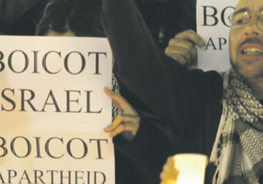 Israel Apartheid Week demonstrators. .