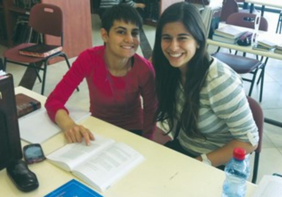 Study partners: One from Midreshet Lindenbaum, one from Darkeynu ('our path') program.