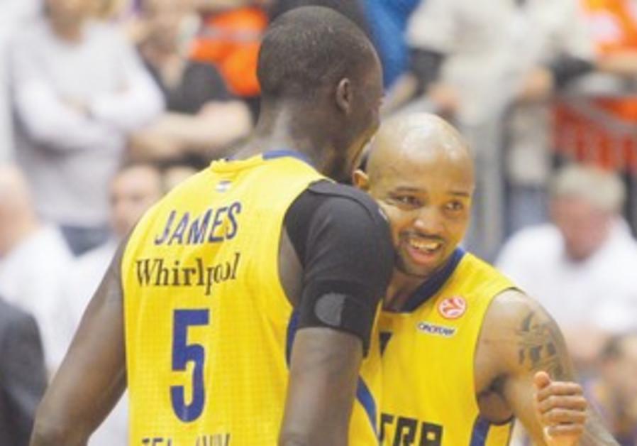 Hickman and James of Maccabi Tel Aviv
