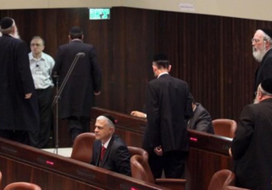 PM Binyamin Netanyahu addressing 33rd Knesset