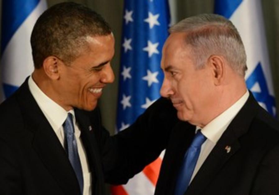 Netanyahu and Obama in press conference in Jerusalem