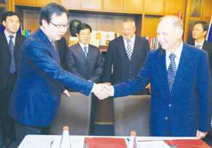 Dr. Ike Sagie and Mr. Huang Jian Ming from Changzhou
