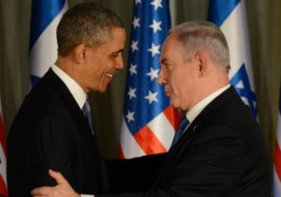 US President Obama and Prime Minister Netanyahu at the Prime Minister's residence, March 20, 2013.