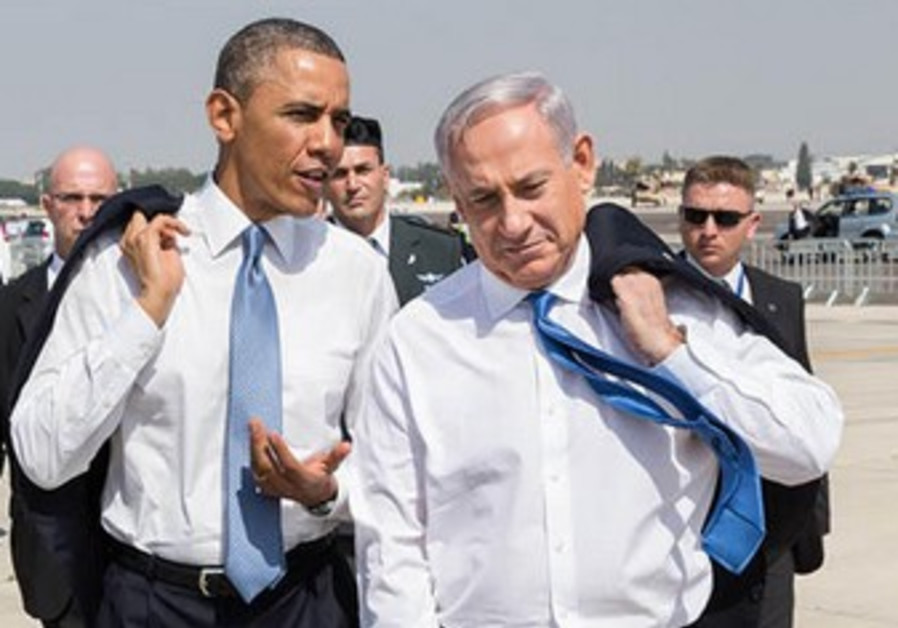 Netanyahu and Obama at Ben Gurion Airport, March 20, 2013.