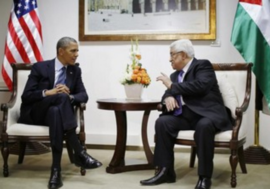 US President Obama and PA President  Abbas in Ramallah