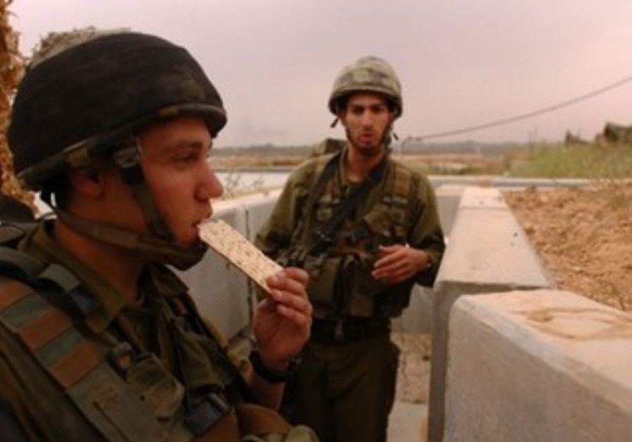 IDF soldiers will be standing guard in their outposts, even on Passover.
