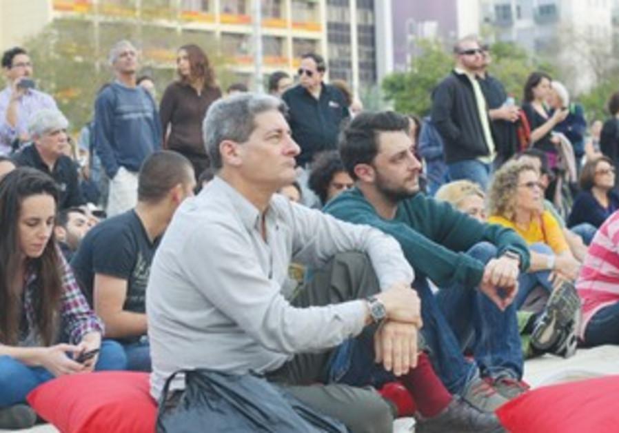 PEOPLE WATCH US President Barack Obama Jerusalem speech at Rabin Square in Tel Aviv