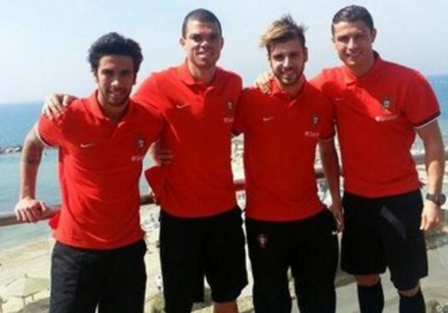 Cristiano Ronaldo, Portugal soccer players in Israel