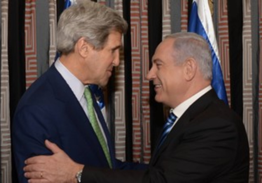 US Secretary of State John Kerry with Prime Minister Binyamin Netanyahu, March 23, 2013.