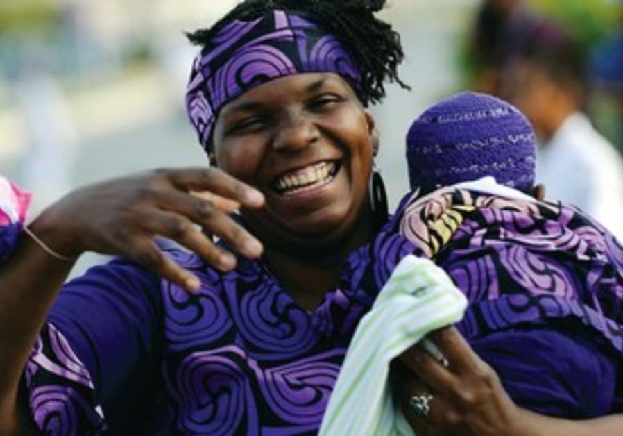 AN AFRICAN American Hebrew Israelite celebrates Passover.