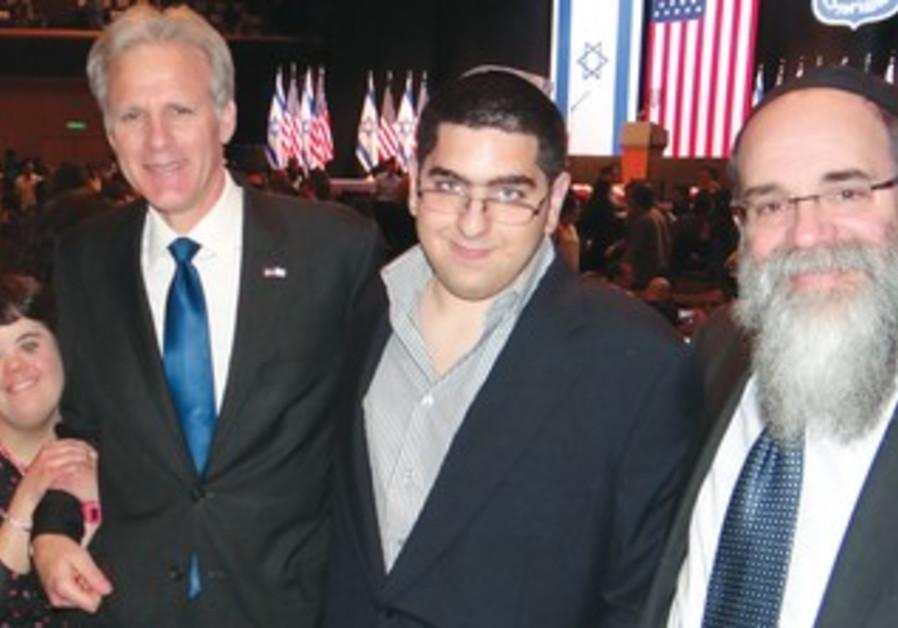EFRAT DOTAN and Matanel Biton with Ambassador Michael Oren and Rabbi Kalman Samuels.